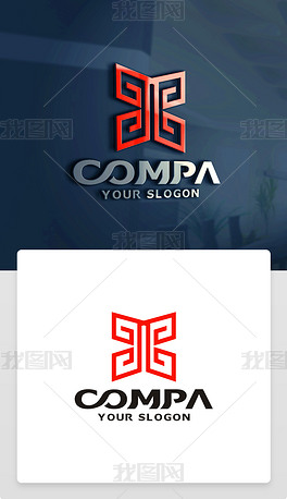 X字母LOGO设计中国风传统古典大气LOGO
