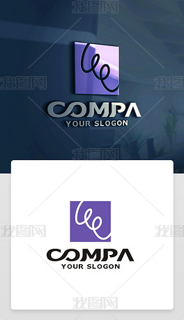 抽象线条创意艺术标志LOGO设计商标设计