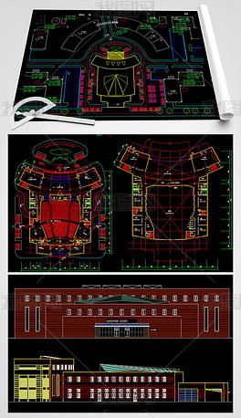 国际会议中心CAD建筑图