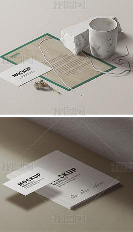 高端办公商务品牌形象包装vi样机