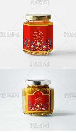 高档精品唯美创意蜂蜜包装设计蜂蜜罐包装设计