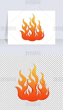 火苗图案手绘火焰png免扣素材卡通火透明免抠