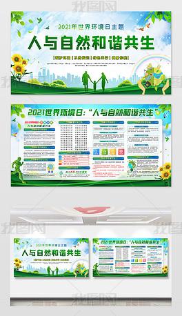 2021世界环境日宣传栏展板
