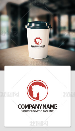 马logo标志商标cdr模板标识ai格式