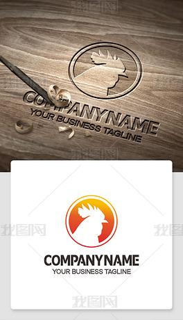公鸡logo标志商标cdr模板标识ai格式