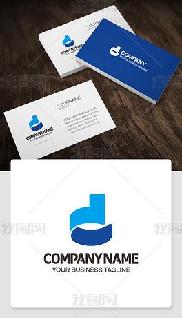 d形logo设计带d的标志商标cdr模板