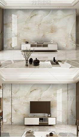 现代简约轻奢烁金抽象山水大理石纹电视背景墙