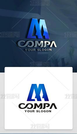 M字母LOGO设计M字母标志M字母商标