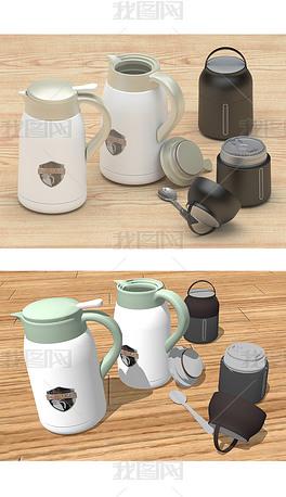 两套保温壶茶杯瓶-8个压缩包多种制作软件版本