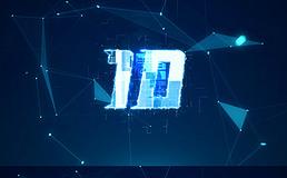 蓝色科技点线面10秒倒计时视频素材