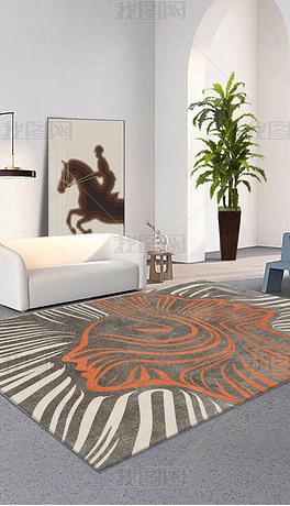 现代北欧艺术客厅地毯百搭ins风轻奢地毯地垫