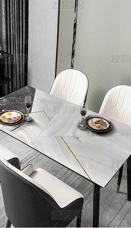 北欧现代简约几何大理石轻奢抽象桌布茶几餐桌垫