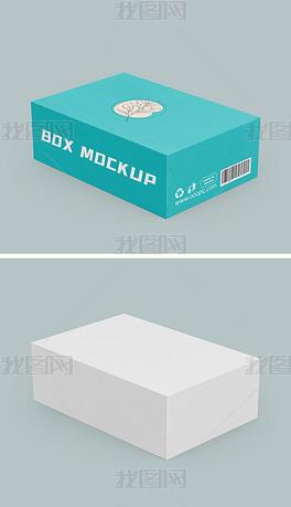 单个扁形产品纸盒包装盒样机