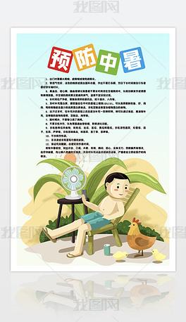 夏天预防中暑海报设计