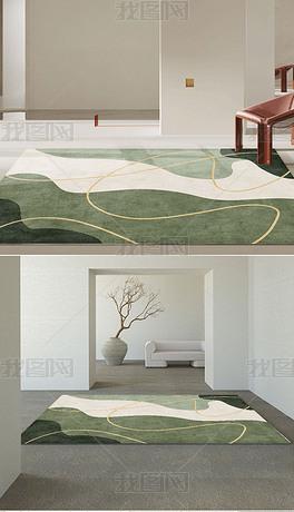 ins风地毯卧室北欧抽象家用房间地垫床边毯