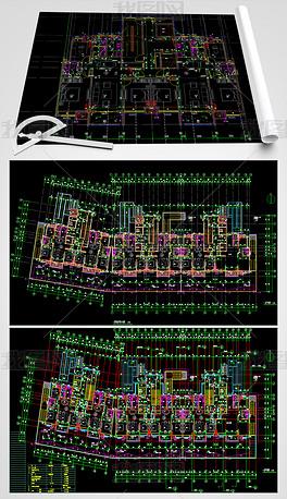 样板房CAD建筑平面图