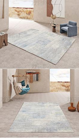 现代北欧轻奢抽象水墨创意高端客厅地毯地垫图案