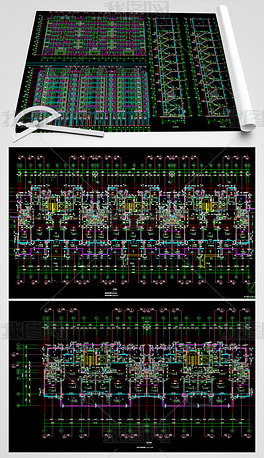 洋房户型CAD平面设计图