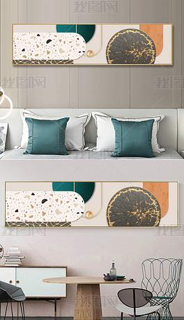 现代3D几何金箔客厅沙发墙床头装饰画