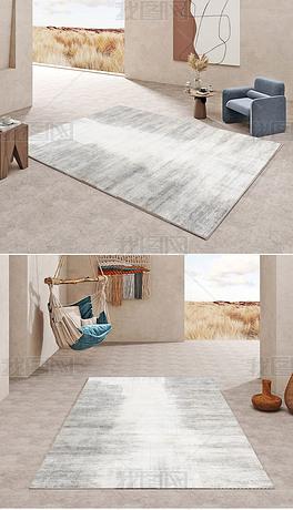 北欧现代轻奢抽象水墨创意高端客厅地毯地垫图案