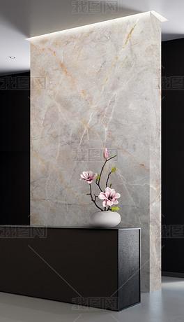现代简约轻奢复式金色线条大理石纹背景墙