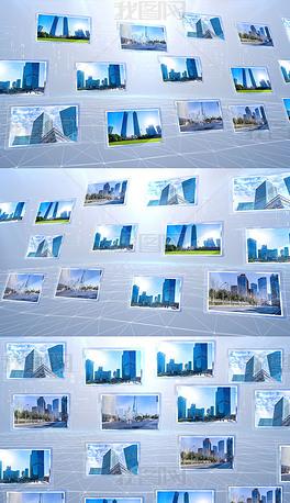 简洁科技照片墙图片汇聚AE模板