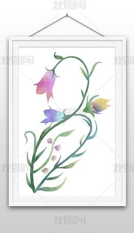 手绘水彩风格花卉插画装饰画