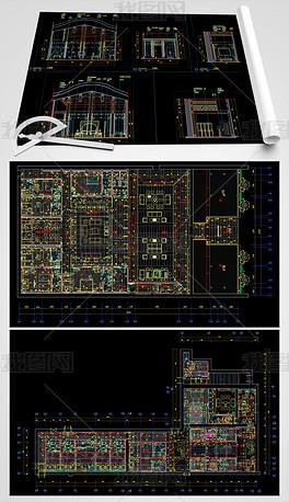 中式民宿CAD平面设计图