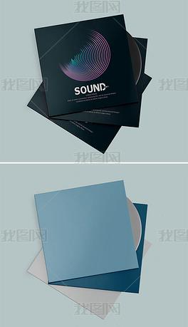 cd光盘纸盒包装样机