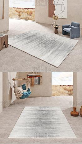 现代北欧简约轻奢条纹抽象创意极简客厅地毯地垫