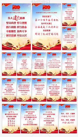 全套完整学习解读七一重要讲话精神金句海报展板