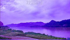 5K涪江湖水山峦云雾延时空镜时光流逝清晨