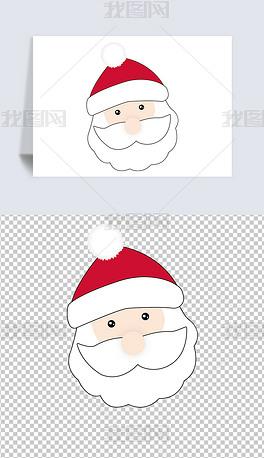 矢量图卡通可爱人物圣诞节新年节日圣诞老人