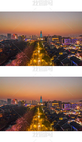 济南黑虎泉西路夜景