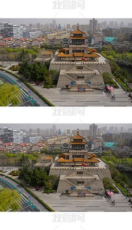 鸟瞰济南解放阁图片