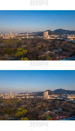 鸟瞰济南泉城公园