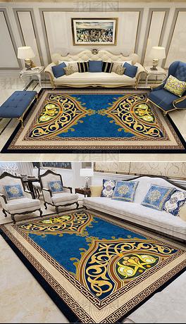 高档蓝色地毯
