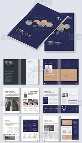 大气创意高档项目计划书整套画册AI设计模板