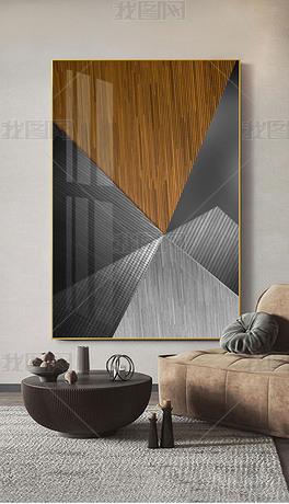 现代简约轻奢高端抽象建筑艺术玄关装饰画-空建