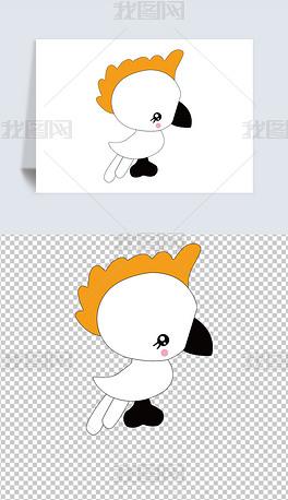 矢量动物卡通手绘简笔画鹦母