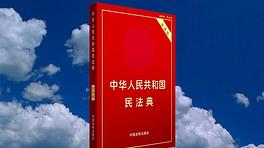 民法典法律红色大气AE片头模版