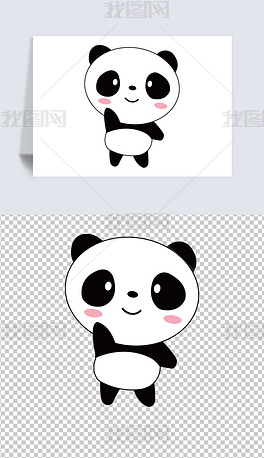 矢量国宝动物熊猫