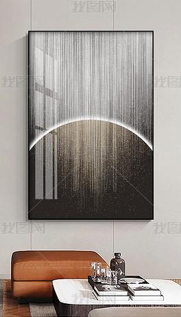 轻奢简约现代抽象意境线条星空走廊玄关装饰画