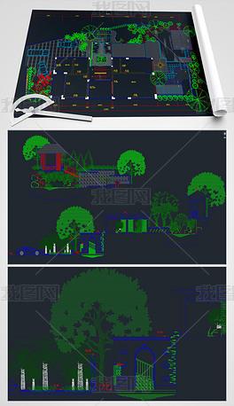 广场绿化CAD