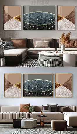 抽象意境线条现代轻奢高级感客厅装饰画5