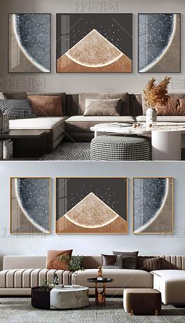 抽象意境线条现代轻奢高级感客厅装饰画