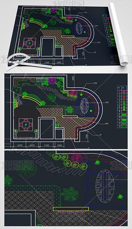 屋顶花园CAD