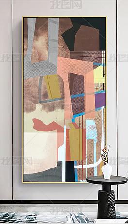 现代简约抽象轻奢艺术北欧玄关客厅装饰画
