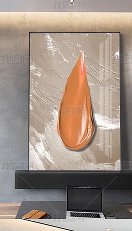 现代抽象油画艺术立体大气客厅玄关挂画装饰画3