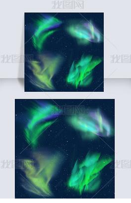 绿色幻彩极光光效